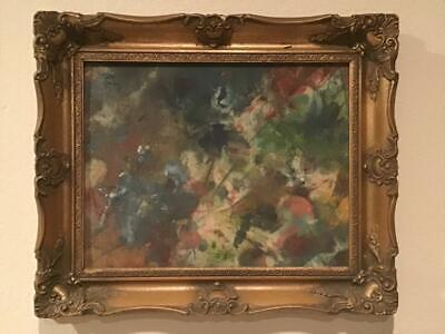 Original Vintage Abstract Oil Painting Signed M Earl Listed Framed - $199.99
