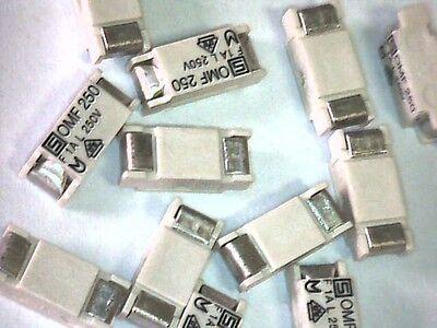10x SMD Sicherungen Sub-miniature fuse-link 1A 250V Schurter OMF250
