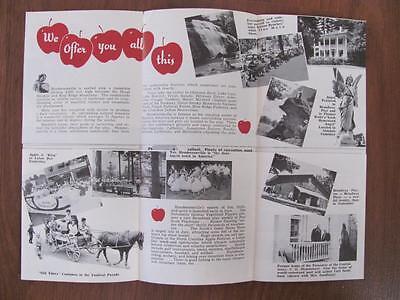 1940s-'50s HENDERSONVILLE NC Mountain Vacation Motel Hotel Resort Photo Brochure