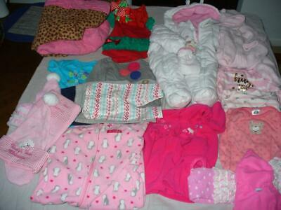 Size 0-3 Month Baby Girl Clothing Lot Coney Isle 21 Pieces