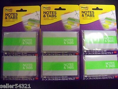 Post-it Notes Tabs Orangeneon Green 72 Tabs-2 X 1.5 150 Notes-2 X 2 6 Pk