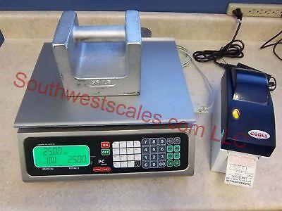 Torrey Pc80 X .02 Lb Price Computing Scale Godex Dt2 Label Printer-shi Tor Rey