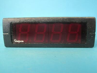 Simpson Electric M2400910f M240-0-91-0-f Digital Panel Meter Temperature Used