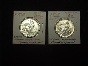 Sharp Brilliant Uncirculated 1925 Stone Mountain Silver Comm Half Dollar $69.95