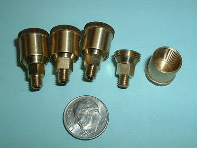 4 Model Hit Miss Gas Engine Or Steam Engine Brass Grease Cups 10-32 Thread
