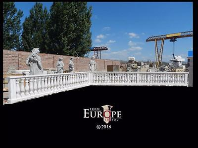 BEAUTIFUL HAND CARVED MARBLE ESTATE GARDEN RAILINGS FOR THE DISCOVERY CHANNEL