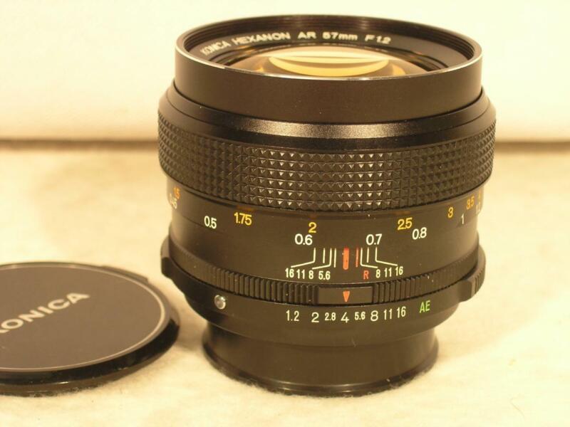 Konica AR 57mm F1.2 High Speed Hexanon Manual Lens