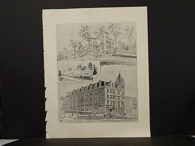- Connecticut, Map, 1893, New London, The Harris Building Print, L5#82