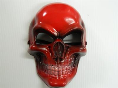 HALLOWEEN HORROR PROP - Modified painted Fire Skull Mask PVC - Painting Halloween Props