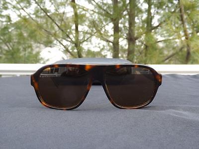 Nautica N6125 Polarized Tortoise Aviator Sunglasses 59 14 140 EXC w Case
