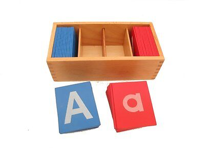 NEW Montessori Language Material- Little Red and Blue Sandpaper Letters in Print