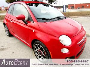 2012 Fiat 500 Sport ***CERTIFIED ACCIDENT FREE 1 OWNER*** $7,498