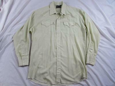 Vtg 60s 70s Panhandle Slim Pearl Snap Western Shirt Cowboy Rockabilly Plaid Nice