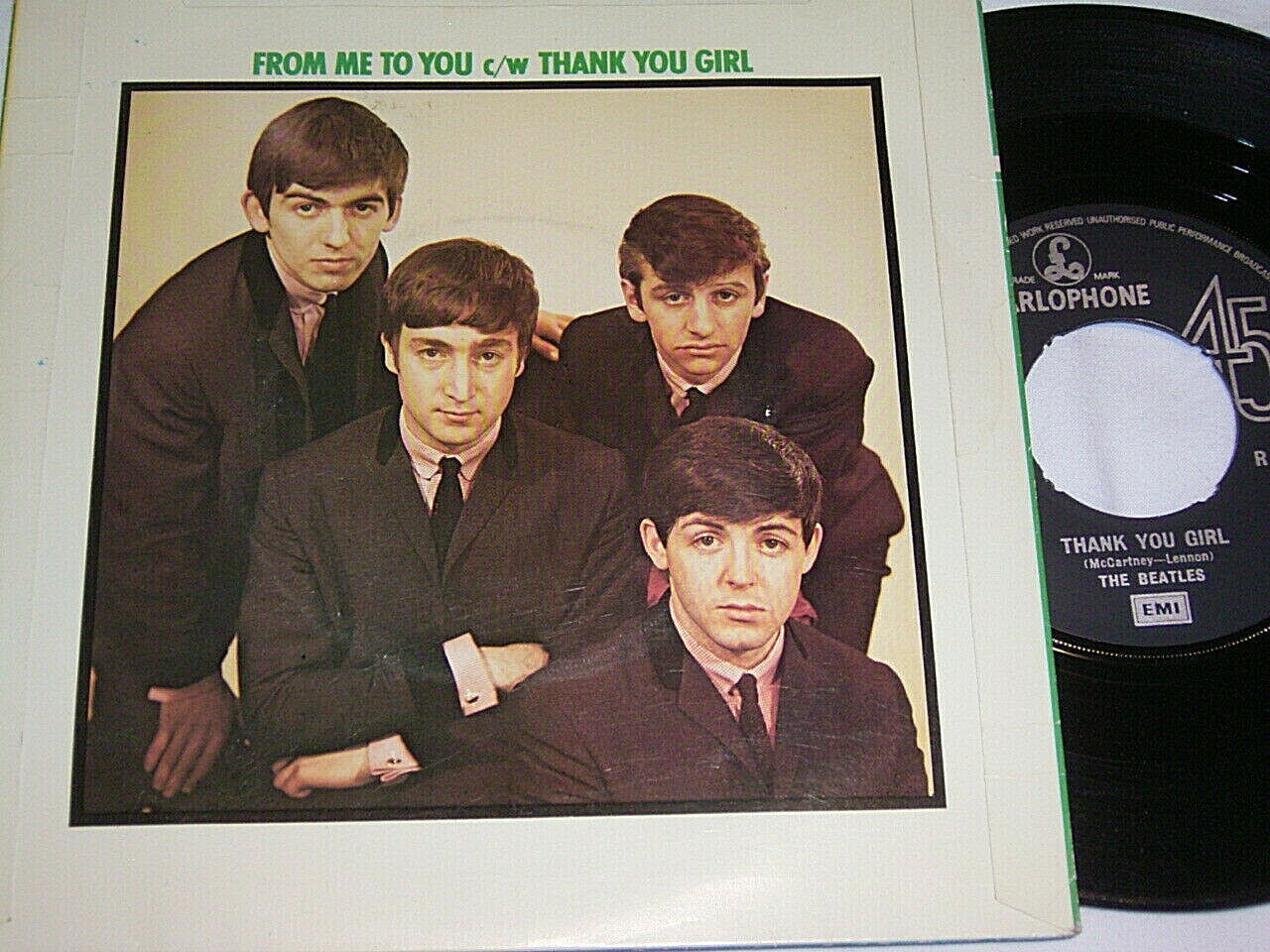 "7"" Beatles From me to you & Thank you Girl - UK # 6929"