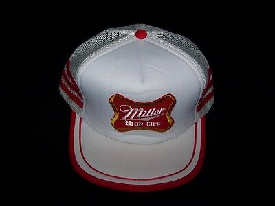 Miller High Life Beer Vintage Snapback 1980s hat mesh back truckers cap