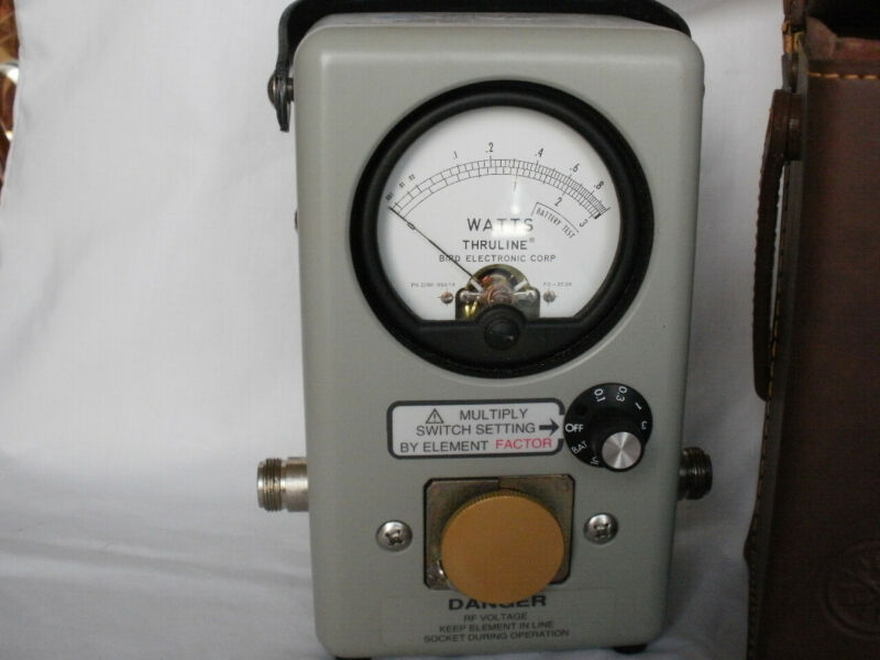 BIRD Thruline Wattmeter Model 4410 Kit With Case Includes Numerous Assorted A