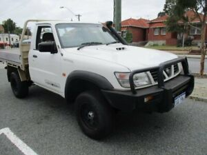 2006 Nissan Patrol GU II DX White 5 Speed Manual Cab Chassis West Perth Perth City Area Preview