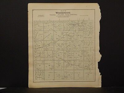 Minnesota, Otter Tail County Map, 1884 Woodside or Eastern !J2#09