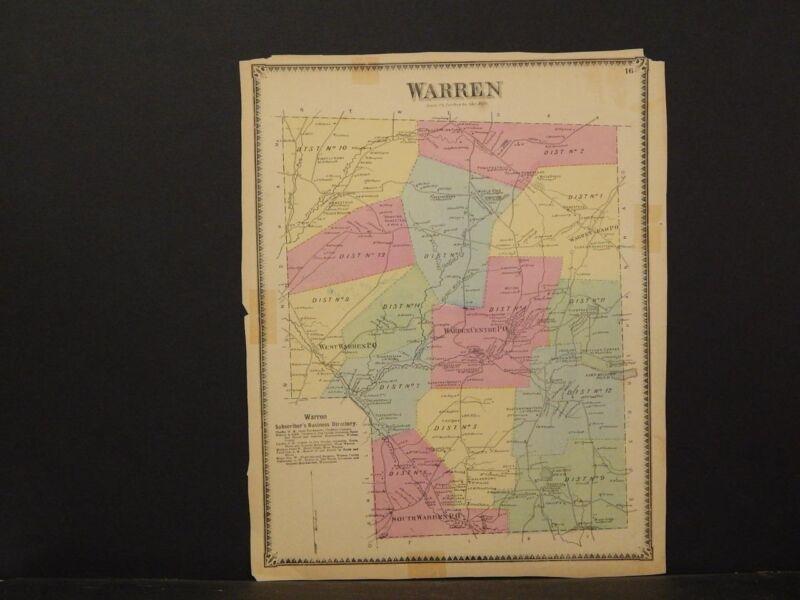 Pennsylvania, Bradford County Map, 1868, Township of Warren, !K1#41