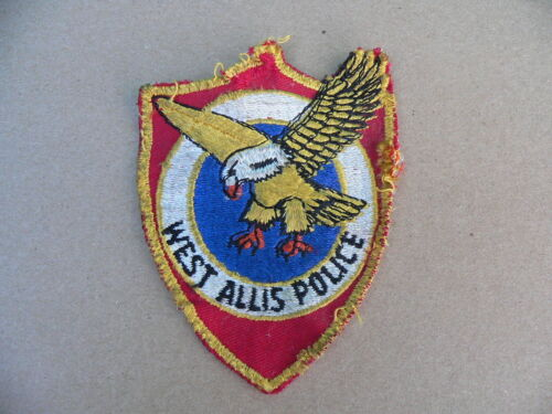 Original Used Vintage West Allis Wisconsin Police Patch w Eagle