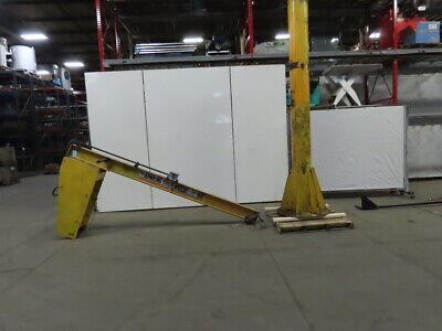 Handling Systems 12 Ton Cap. Floor Mounted Jib Crane 10 Span 12 Under Beam