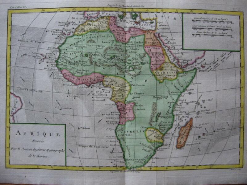 1780 - BONNE - Map AFRICA