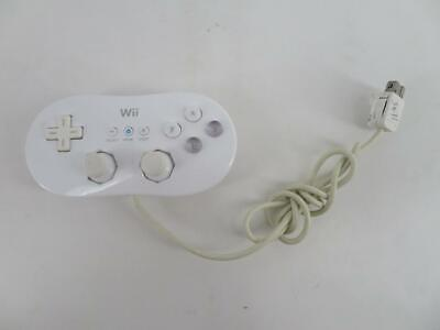 OEM Genuine Nintendo Wii Wired White Classic Controller RVL-005 ~ TESTED & WORKS