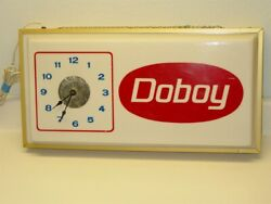 Vintage Advertising Doboy Wall Clock, Electric, Lighted, Seed Feed Farm