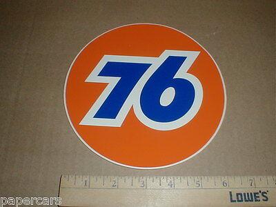 "PAIR Union 76 gas station Gasoline pump vtg decal sticker 8"" original Unocal NOS"