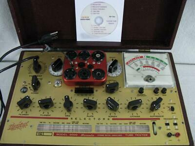 Hickok 6000 Mutual Conductance Tube Tester - Calibrated - Specs Near Perfect.