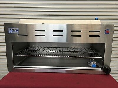 New 60 Infrared Cheese Melter Horizontal Gas Broiler Stratus Scm-60 3277 Usa