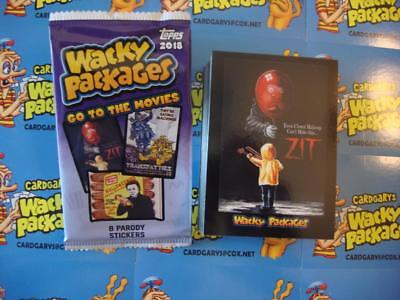 2018 WACKY PACKAGES GO TO THE MOVIES COMPLETE SET 90 STICKER CARDS FREE WRAPPER+