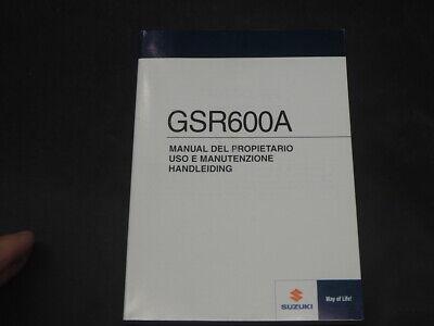 SUZUKI GSR600 A K9 2009 USO E MANUTENZIONE HANDLEIDING MANUAL DEL PROPIETARI0