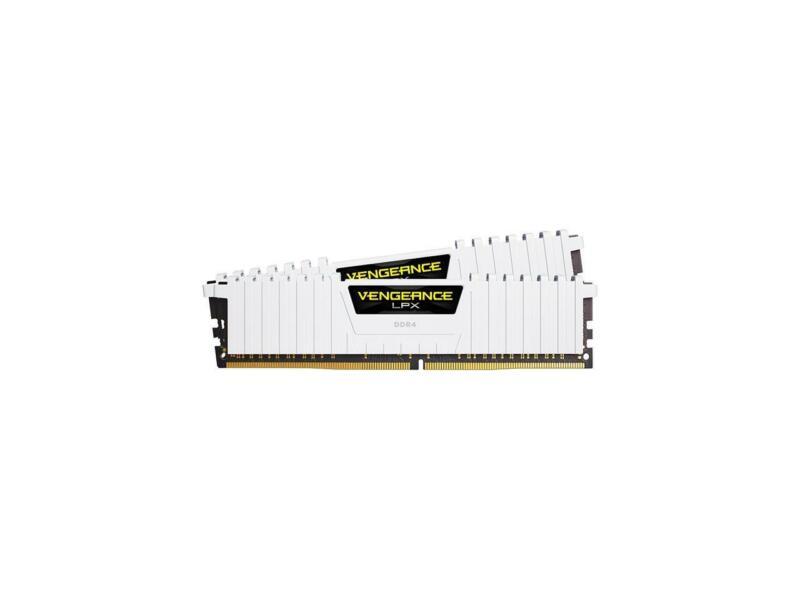 CORSAIR VENGEANCE LPX Series 16GB (2PK 8GB) 3.2GHz DDR4 Desktop Memory White CMK16GX4M2B3200C16W