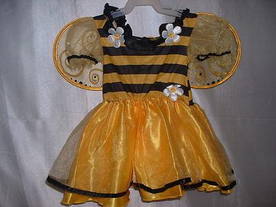 DARLING 1 pc Satiny Bumblebee Bee Halloween Costume 12-18-24 Mos 12 mo 18 mo 2T (Darling Bee Costume)