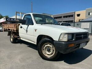 1995 Toyota Hilux RN85R White 5 Speed Manual Cab Chassis
