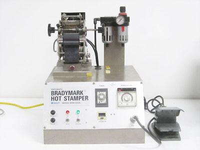 Brady Bhm-402a Bradymark Hot Stamper Press Machine With Foot Pedal Bhm-402a-18