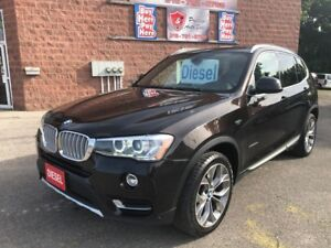 2015 BMW X3 xDrive28d/DIESEL/ONE OWNER/NO ACCIDENT/CERTIFIED