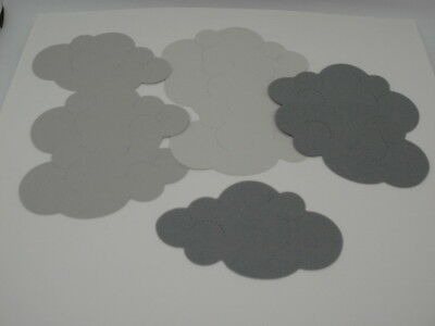 12 Cloud Die Cuts Paper Embellishments for Card Making Scrapbook Cut Outs - Cloud Paper