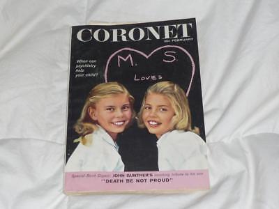 CORONET MAGAZINE / FEBRUARY 1959 / DIGEST SIZE / EDDIE CANTOR MR. SAN FRANCISCO