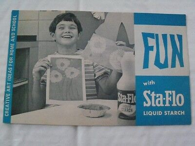 "FUN with Sta-Flo Liquid Starch"": Vintage 60s Pamphlet, A.E. Staley, Decatur, IL"