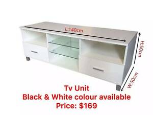 Brand New TV Unit Black/ White colour available Clayton South Kingston Area Preview