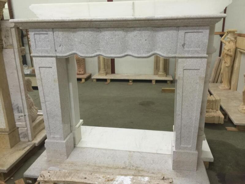 BEAUTIFUL HAND CARVED SOLID MARBLE FIREPLACE MANTEL  - JD807