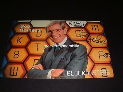 BOB HOLNESS SIGNED REPRINT TV LEGEND BLOCKBUSTERS PHOTO