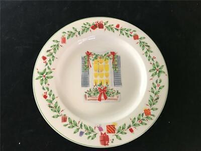 - Lenox Holiday Plate Christmas Window Design Holly