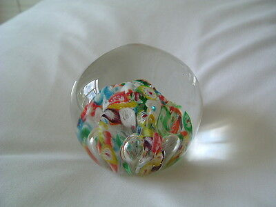MILLEFIORE CANE GLASS PAPERWEIGHT VINTAGE MOUNT ROYAL FUSED