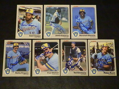 Marshall Edwards 1983 Fleer  32 Autograph Milwaukee Brewers Signed Baseball Card