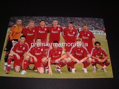 LIVERPOOL FC 2007 CHAMPIONS LEAGUE FINAL STEVEN GERRARD CARRAGHER ALONSO KUYT
