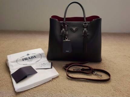 Prada City Calf Bag Large Authentic