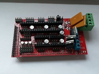Ramps 1.4 3d Printer Controller Rep Rap Mendel W Jumpers